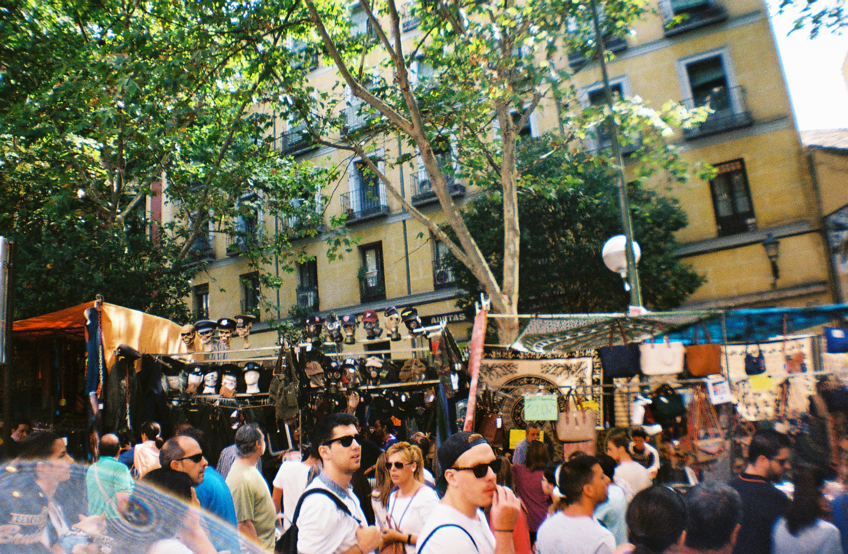 Crowded Street of El Rastro