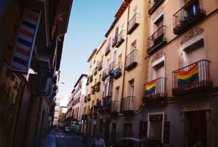 Pride in Chueca area of Madrid