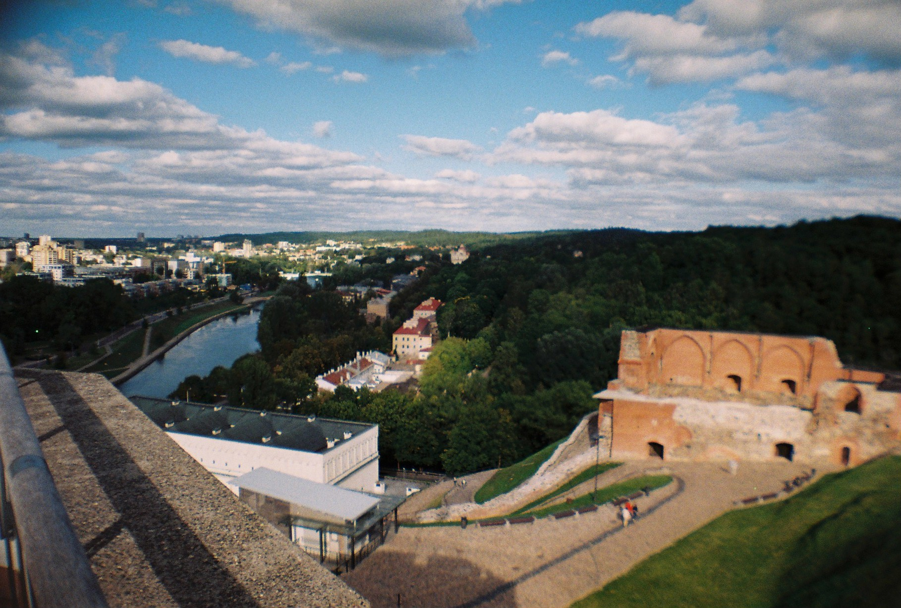Panoramic view of the city from Gediminas Tower
