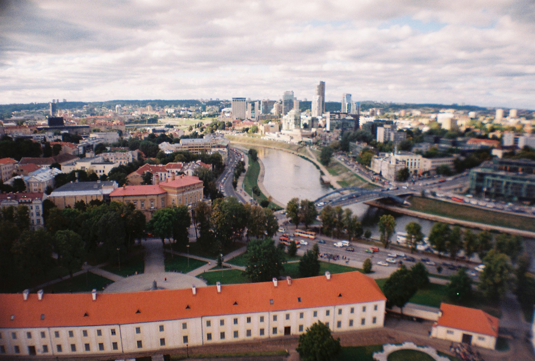 Panoramic view from top of Gediminas Tower