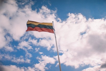 Lithuanian Flag as seem from Gediminas Tower