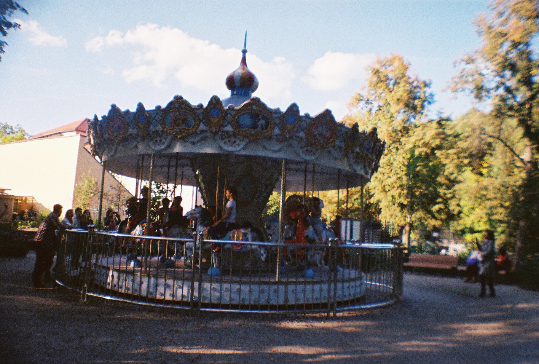 Carousel in the garden