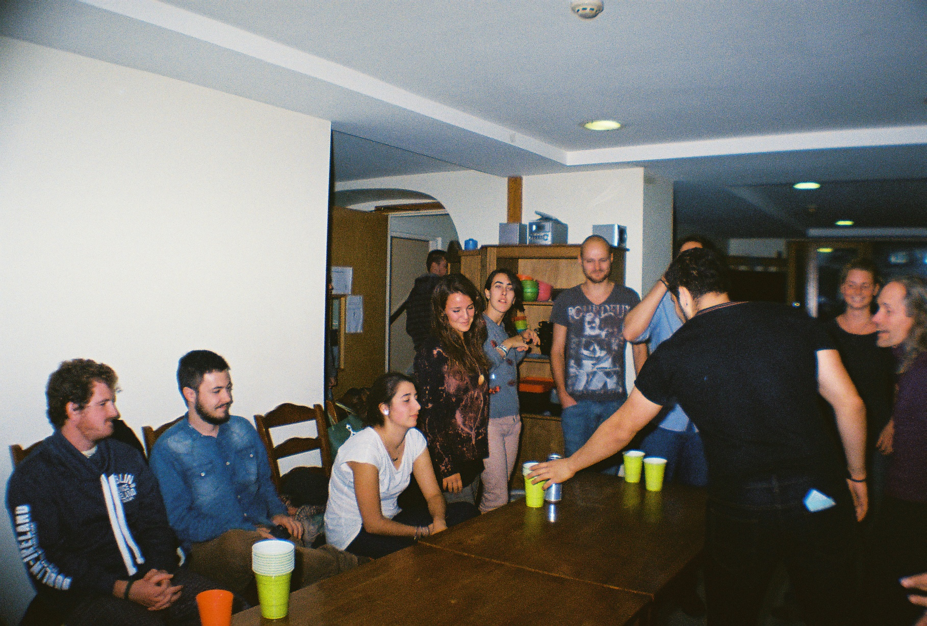 Beer pong tournament in Egali Hostel