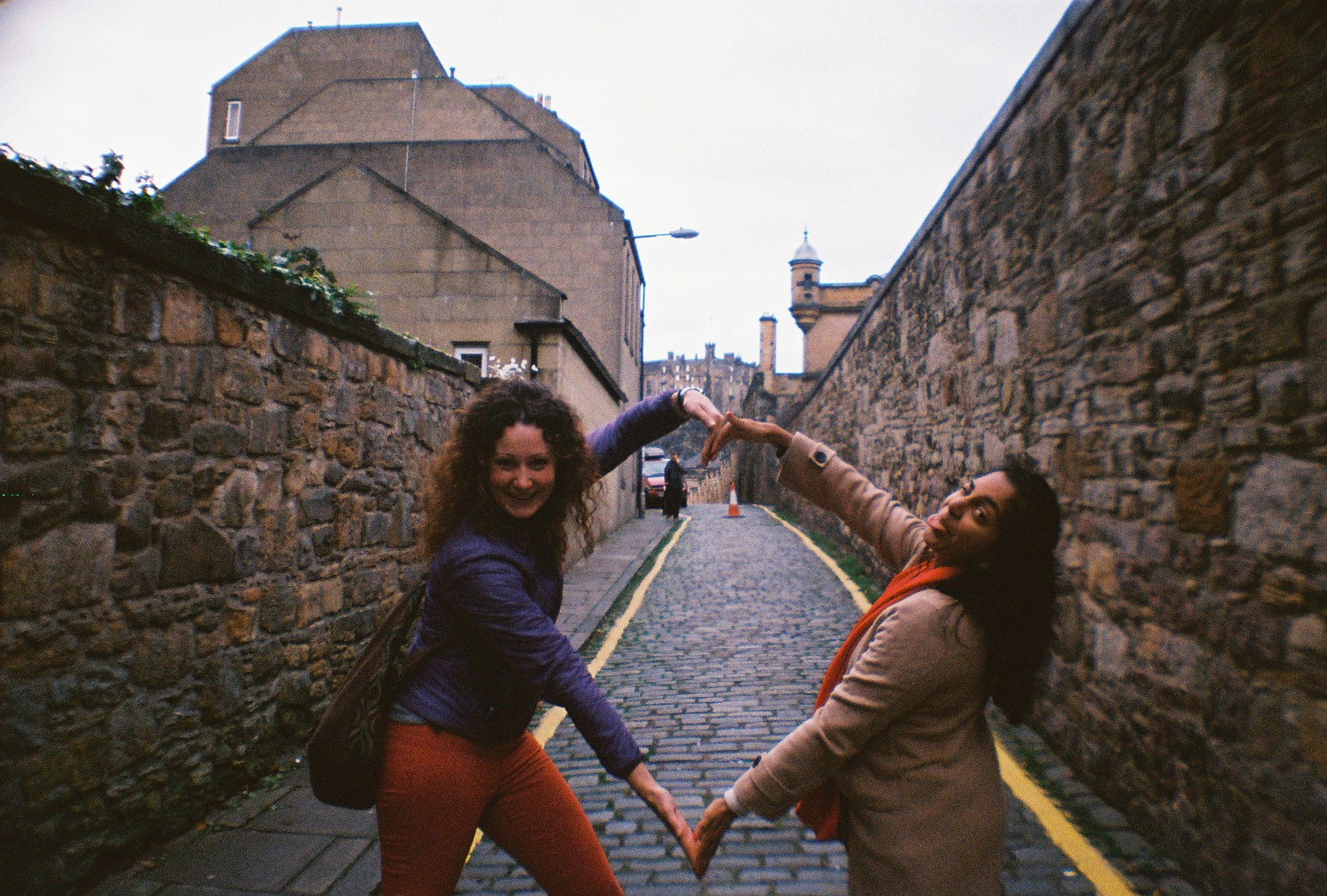 These lovely ladies led me through Edinburgh